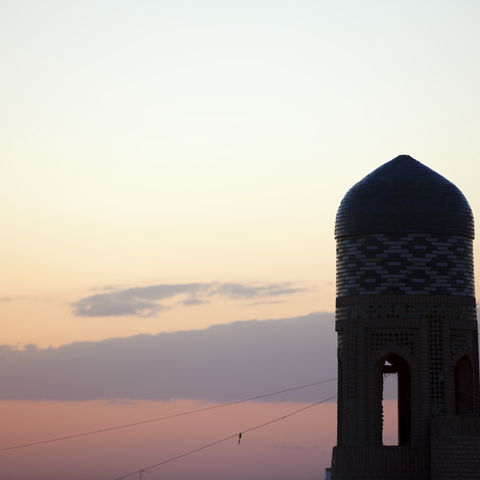 Sonnenuntergang in Chiwa, Usbekistan