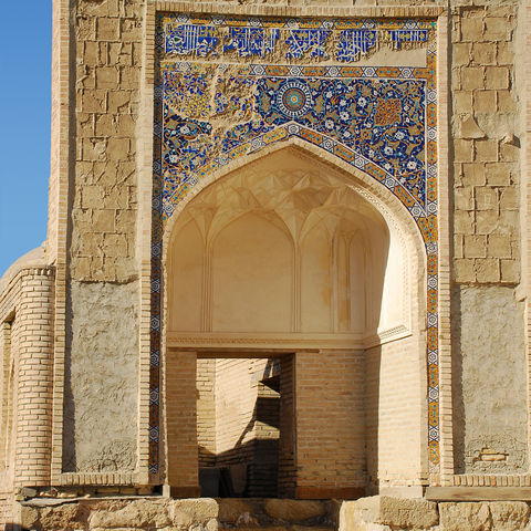 Treppe in der Stadt der Mausoleen, Chor Bakr, Usbekistan