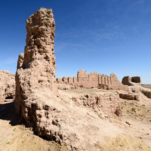 Überbleibsel aus den Jahrhunderten rund um Christis Geburt: die Festung Ayaz Kala, Usbekistan