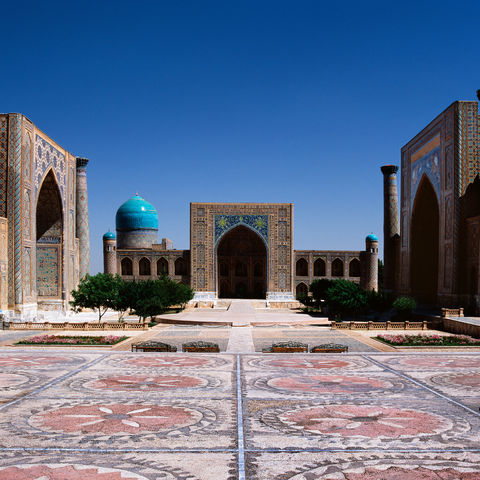 Das Registan-Ensemble in Samarkand, Usbekistan