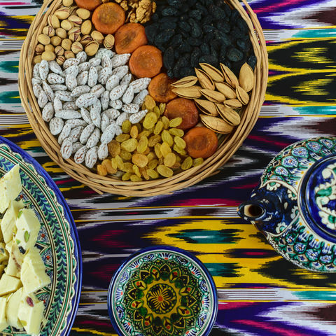 Teezeremonie in Samarkand, Usbekistan