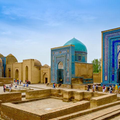 Totenstadt Shah-e-Sinda in Samarkand, Usbekistan