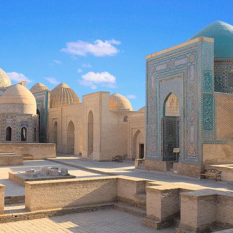 Schah-e-Sinde Mausoleum in Samarkand, Usbekistan