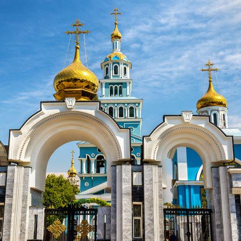 Russisch-orthodoxe Mariä Himmelfahrt Kathedrale in Taschkent, Usbekistan
