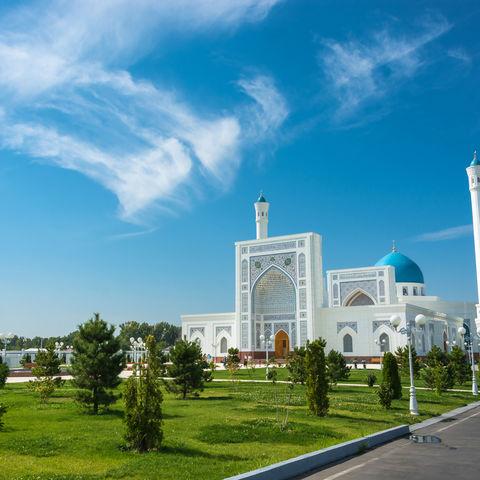 Weiße Moschee in Taschkent, Usbekistan