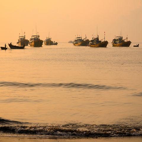 Fischerboote in Danang, Vietnam