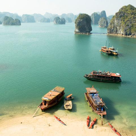 Traumhafte Halong Bucht, Vietnam