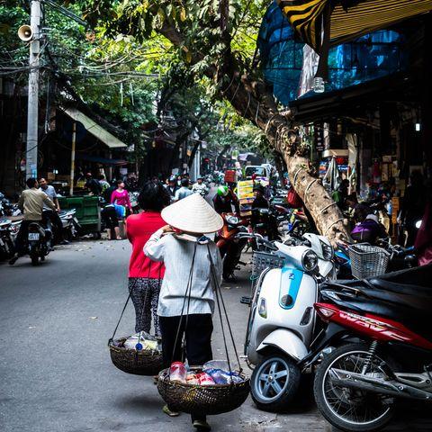 Straßenszene in Hanoi, Vietnam