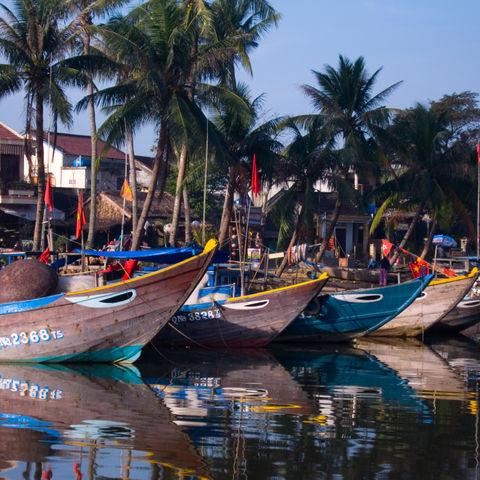 Hafen in Hoi An, Vietnam