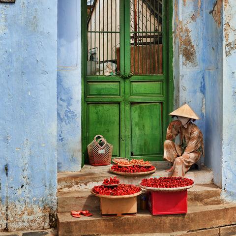 Verkäufer in Hoi An, Vietnam