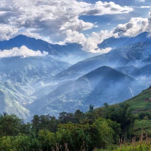 Großartige Berglandschaft in Lao Cai, Vietnam
