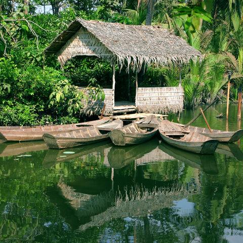 Hütte im Mekong Delta, Vietnam