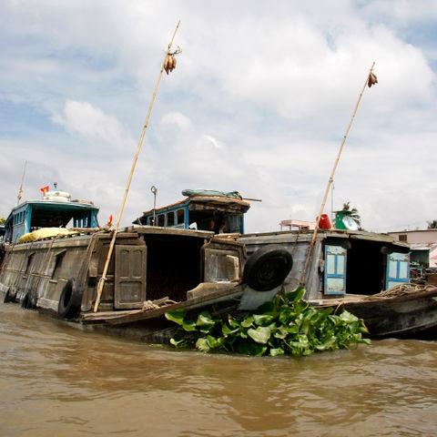 Boote im Mekongdelta, Vietnam