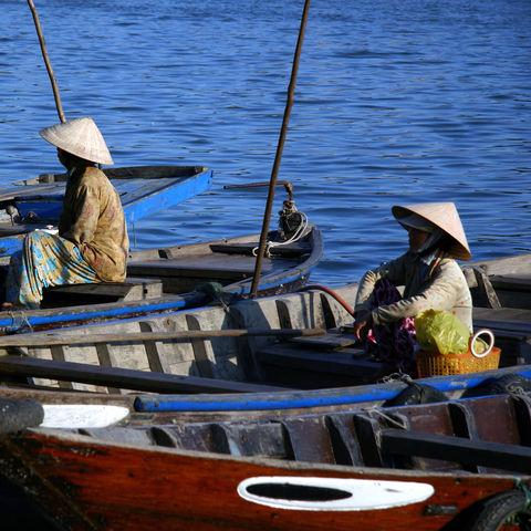 Fischer im Mekongdelta, Vietnam