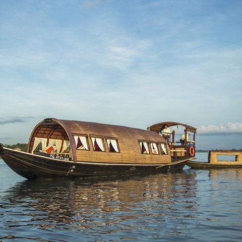 Sampan auf dem Mekongdelta, Vietnam