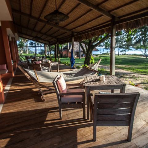 Blick die Terasse der Veranda Rooms, Vietnam