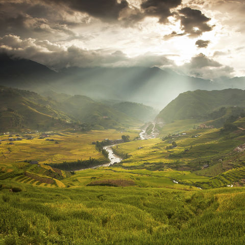Idyllische Berglandschaft um Sapa, Vietnam
