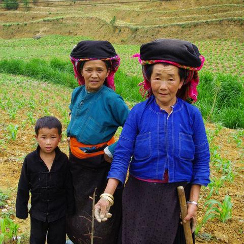 Schwarze Hmong in den Bergen um Sapa, Vietnam