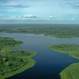 Der Amazonas von oben © Thinkstock, Hemera
