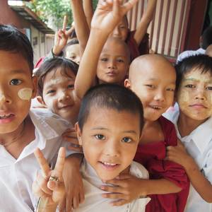 Schulkinder © Virtual World School Myanmar