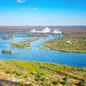 Der Sambesi-Fluss und die Viktoriafälle © Dmitry Pichugin, Dreamstime.com